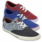 Mens Pumps Rock & Revival Denim Spotted Trainers Canvas Sneakers Plimsolls Lace