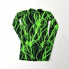 MENS' LONG SLEEVE COMPRESSION SHIRT LIGHTNING SPANDEX FABRIC NWOT