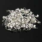 Free UK PP 100x Silver Plated Wholesale Pendant Connector Pearl Bail Pin 3mm