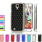 Diamante Bling Chrome Hard Case Cover For Samsung Galaxy S4 i9500 + Screen Guard