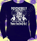 Rockabilly Psychobilly Rock & Roll T-Shirt Original Punk Gothic Long Sleeve 50's