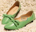 Women Casual ballet flat boat slip-on pointy toe soft sole PU shoes