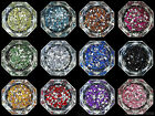 Flower Shape Flat Back Rhinestones in Multiple Colors and Lots