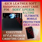 RICH LEATHER SOFT CARRY CASE for SONY XPERIA S LT26i HANDPOUCH COVER POUCH NEW