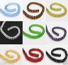 70 Beads Faceted Rondelle Glass Beads 6x8mm Small Loose Beads For Crafts