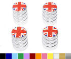 Great Britain Flag - British Wheel Tire Valve Stem Caps - Colors