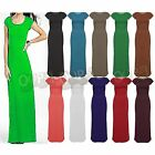 Womens Ladies Cap Sleeves Bodycon Girls Stretchy Long Celebrity Top Maxi Dress