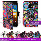 PU LEATHER Wallet CASE COVER FOR SAMSUNG GALAXY S2 i9100 + SCREEN PROTECTOR