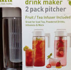 Takeya 2Pk Pitcher Drink Maker Plus Fruit / Tea Infuser Pitcher Kitchen Party