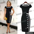 New Womens Ladies Bodycon Business Party Cocktail Pencil Dresses Size 6810121416