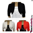 NEW BLACK BOLERO SHRUG CARDI TOP SIZE 10-20