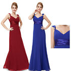 Maxi Evening Bridesmaid Wedding Dress Prom Party Formal Gown 09601 UK Sz 6-18