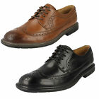 Clarks Unstructured 'Un Limit' Mens Black Or Tan Leather Lace Up Shoes