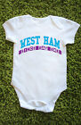 West Ham since day one Baby Grow Vest Hammers gift cute Babies L468