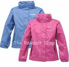 REGATTA JODI WATERPROOF GIRLS BREATHABLE RAIN COAT JACKET AGE 3-12YRS