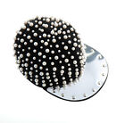 Women's Gothic Punk Rock Pearl Studded Baseball Hat Hip-hop Hats Cap Adjustable