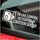 Motion Sensor Activates In Car Camera Recording-Vehicle Security Stickers Signs
