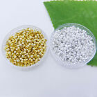 Metal Round Gold Silver Plated Crimps End Beads Findings DIY 1.5mm,2mm,2.5mm,3mm