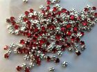 Swarovski Rose Montees Red Siam Vintage Prong Set Pack of 30 Post Free
