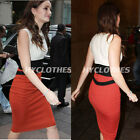 Women Rockabilly Patchwork Wiggle Bodycon Cocktailk Party Summer Vest Dress 444