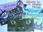 Bright & Colourful Wicca Witch Fun Funky Wall Door Hanging Sign