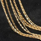 "5X 16-20"" Jewelry Findings 18K Gold Filled S GF Link Necklace Chains For Pendant"