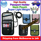 HQ Travel Passport Card Boarding Pass Neck Pouch Bag Organizer+Luggage Name Tag