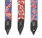 Levy's Flag UK Union Jack USA Canada Electric Guitar Acoustic Bass Guitar Strap