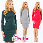 NEW ☼ Classic Women's Dress ☼ Crew Neck Cocktail Party Formal Sizes 8 -14 FA214