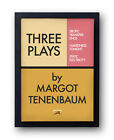 """The Royal Tenenbaums Poster - """"Three Plays by Margot"""" - Wes Anderson rushmore"""