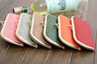 Fashion Women Candy Colors Nubuck Leather Clutch Handbag Purse Card Bag Wallet