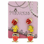 Pack of 3 Pairs Color Enamel Fashion Jewelry Earrings for Teen Girl Women