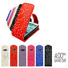 SAMSUNG GALAXY S2 LUXURY PREMIUM SPARKLING FLIP CASE COVER POUCH & SCREEN GUARD