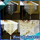 ELEGANT SHINE SEQUIN EMBROIDERY DECORATIVE TASSEL TABLE RUNNER CLOTH HOME PARTY