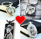 FREE Personalised Stainless Steel Keyring Photo Engraved FREE P&P Unique Gift