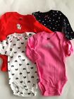 NWT Carter's 4 Pack Bow Star Long Sleeve Bodysuits 3 6 9 12 18 24 Months