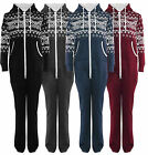 Mens Womens New Aztec Diamond All In One Print Onesie Jumpsuit Hooded Full Piece