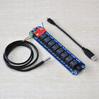 8 Channel USB/Wireless Relay Module Kit(with DS18B20)TOSR08-T(Wifi or Bluetooth)