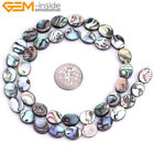 Natural Oval-shaped Genuine Abalone Shell Gemstone Beads For Jewelry Making 15""