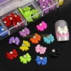 60pcs 3D Giltter Rhinestone Resin Rose Bow Tie Nail Art Cellphone Box Case Decal