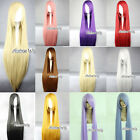 100cm Long Straight Women Girl Fashion Style Anime Cosplay Hair Wig With Wig Cap