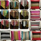 Luxury Stripe Throw Pillow Case Bed Sofa Cushion Cover Table Runer Decor Set New