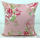 Clarke and Clarke English Rose Pink cushion cover.16 inch,choice two styles zip