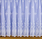 NET CURTAIN BY THE METRE -  ALL DROPS EXCELLENT QUALITY IN WHITE - FRANCIS DES