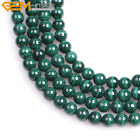 "Natural Gemstone Malachite Stone Beads For Jewelry Making 15"" Gree Jewelry Beads"