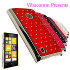 PREMIUM QUILTED SPARKLING MOBILE PHONE HARD CASE COVER FOR NOKIA LUMIA 520