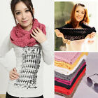 New Women Girls Fashion Long Warm Knit Wool Scarf Lover Scarf Shawl