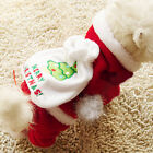 Merry Christmas SANTA Dog Costume Pet Clothes Puppy Chihuahua Poodle XXS M L Red