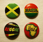 JAMAICA FLAG-RASTA-THE SOUND OF AFRICA-REGGAE BUTTON BADGE 2.5cm PIN