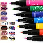 Nail Art Pen Painting Design Tool 16 colors to Choose Drawing Gel Made Easy EA